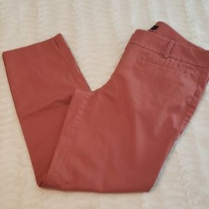 Ann Taylor dusty rose crop ankle pants guc